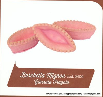 Picture of Barchetta Mignon Glassata Fragola