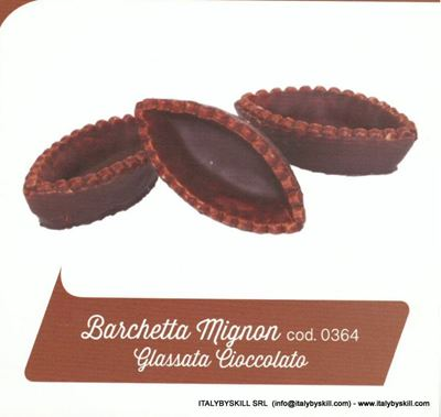 Picture of Barchetta Mignon Glassata Cioccolato