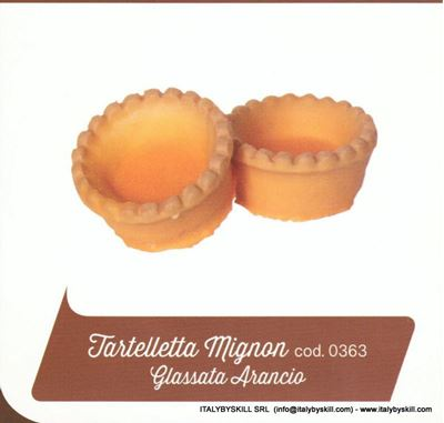 Picture of Tartellette Mignon Glassata Arancio