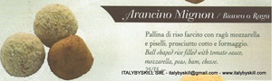 Picture of Arancino Mignon