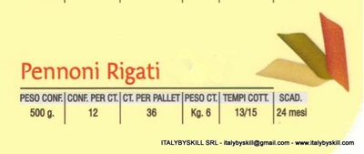 Picture of Pennoni Rigati colored